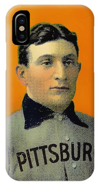 Honus Wagner Baseball Card 0838 IPhone Case