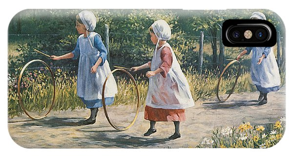 Amish iPhone Case - Hooping It Up by Laurie Snow Hein