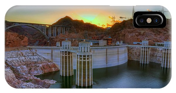 Hoover Dam At Sunset IPhone Case
