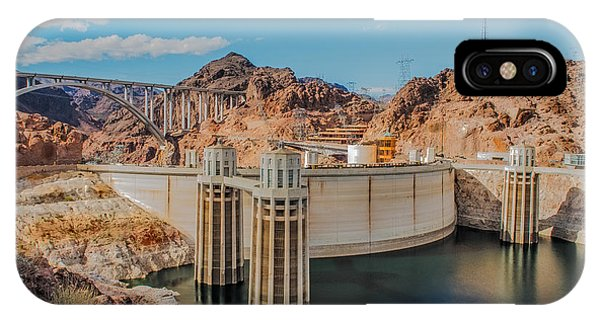 Hoover Dam Reservoir IPhone Case