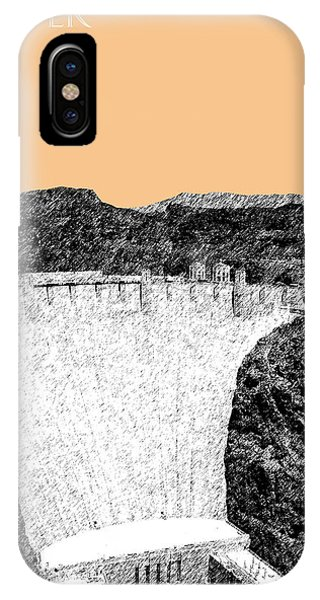 Sketch Pen iPhone Case - Hoover Dam - Wheat by DB Artist