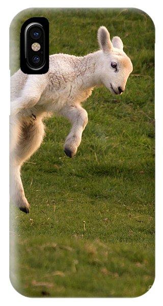 Sheep iPhone X / XS Case - Hop Hop Hop by Angel Ciesniarska