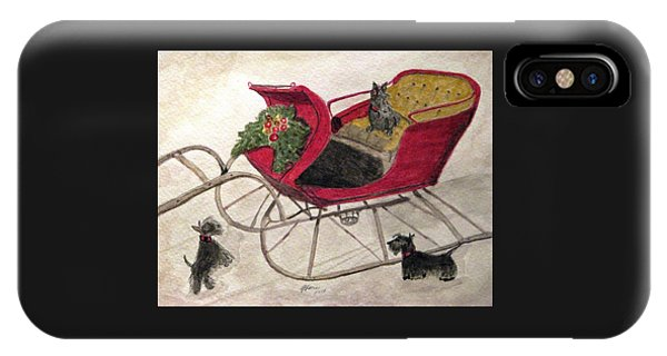 Hoping For A Sleigh Ride IPhone Case