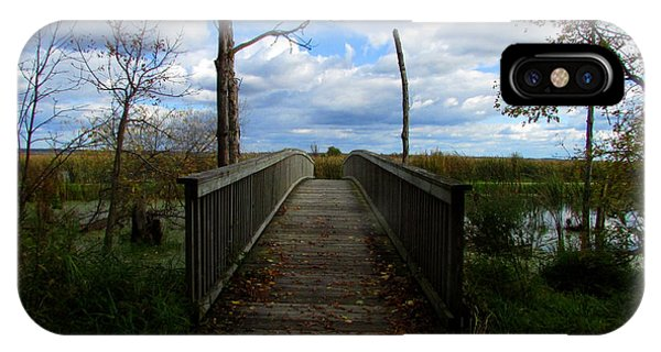 Horicon Bridge In Autumn IPhone Case