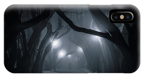 Fog iPhone Case - Hornbeam Avenue by Jakub Przybyla
