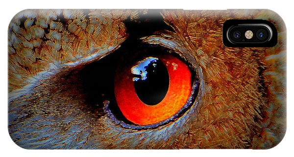 Horned Owl Eye IPhone Case