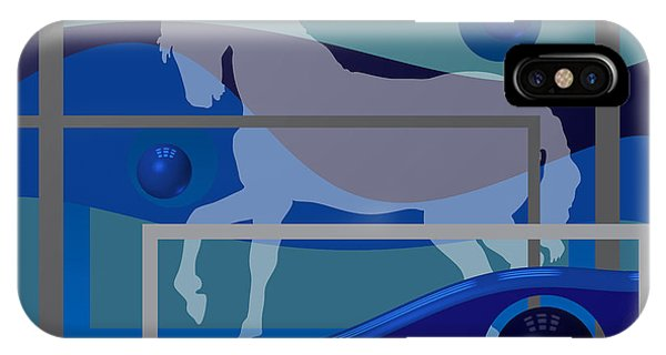 Horse And Blue Balls IPhone Case