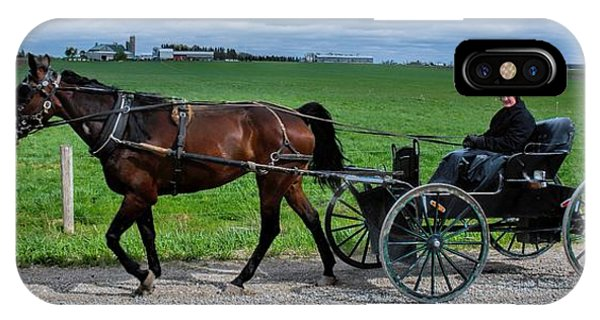 Horse And Buggy On The Farm IPhone Case