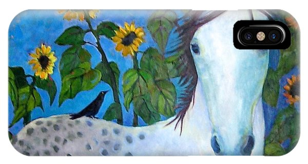 Port Townsend iPhone Case - Horse And Friend by Vicki Ledray