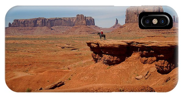 Horse And Rider In Monument Valley IPhone Case