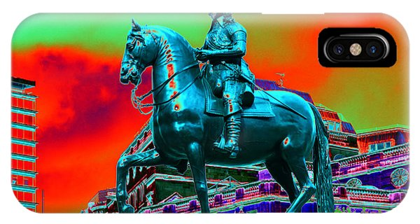 Horse And Rider Metalicized  IPhone Case