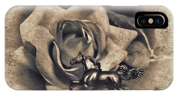 Horse And Rose IPhone Case