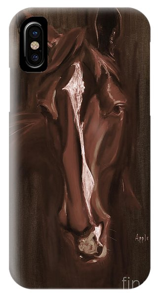 Horse Apple Warm Brown IPhone Case