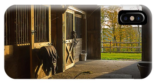 Horse Barn Sunset IPhone Case