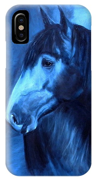 Horse - Carol In Indigo IPhone Case