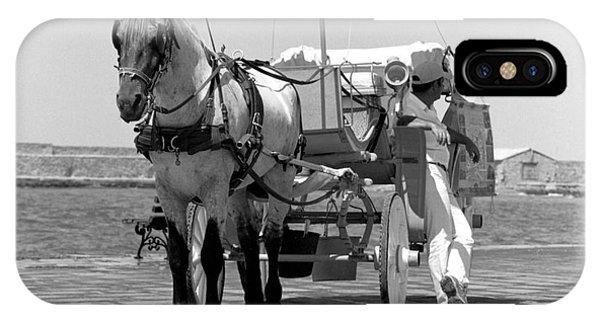 Horse Drawn Carriage In Crete IPhone Case