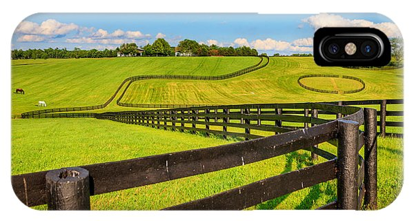 Horse Farm Fences IPhone Case