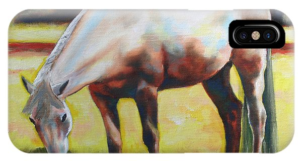 Horse Grazing In The Shade IPhone Case