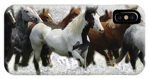 Horse Herd #3 IPhone Case