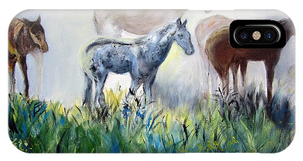 Horses In The Fog IPhone Case