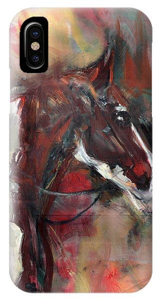 IPhone Case featuring the painting Horse Of The Past by John Jr Gholson