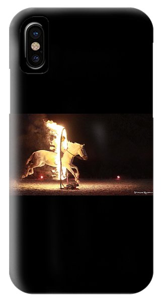 IPhone Case featuring the photograph Horse On Fire by Stwayne Keubrick