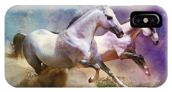 Horse Paintings 004 IPhone Case