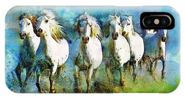 Horse Paintings 006 IPhone Case