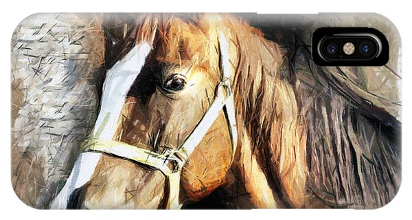 Horse Portrait - Drawing IPhone Case