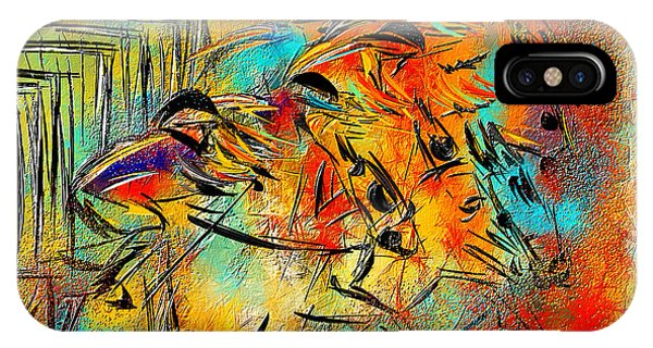 Horse Racing Colorful Abstract  IPhone Case
