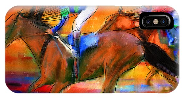 Horse Racing II IPhone Case