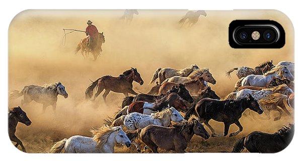 Action iPhone X Case - Horse Run by Adam Wong