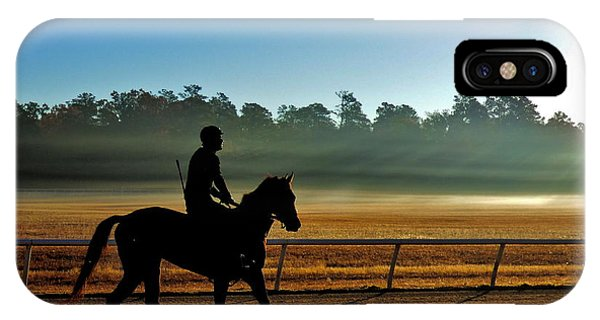 Horse Training At The Winter Colony IPhone Case