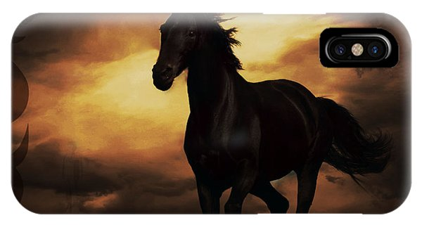 Horse With Tribal Tattoo  IPhone Case