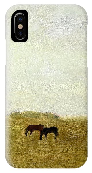 Horses Afield IPhone Case