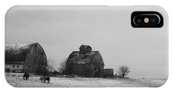 Horses And Barns  IPhone Case