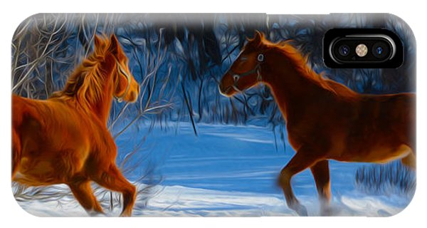 Horses At Play IPhone Case