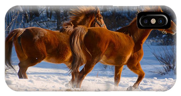 Horses In Motion IPhone Case