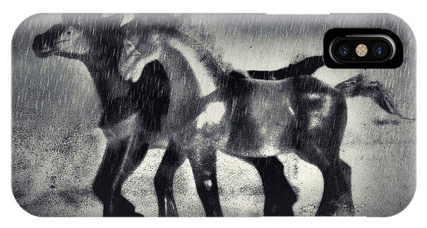 Horses In Twilight IPhone Case