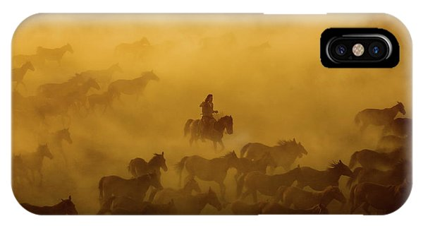 Horse iPhone Case - Horses by ?mm? Nisan