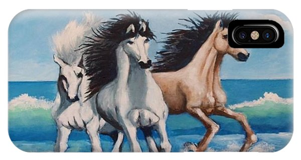 Horses On A Beach IPhone Case