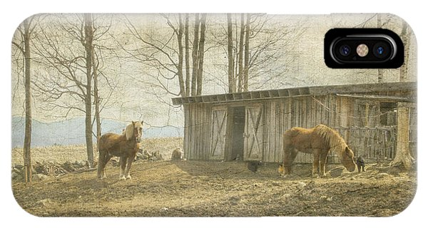 Horses On The Farm IPhone Case