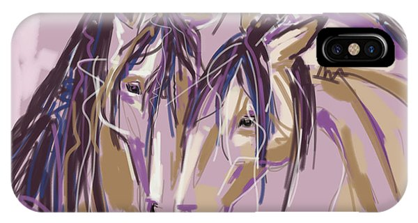 horses Purple pair IPhone Case