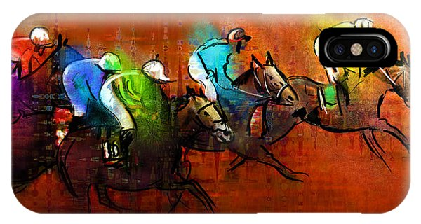 Horses Racing 01 IPhone Case