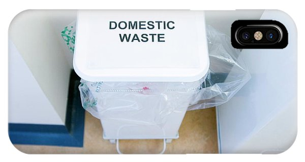 Rubbish Bin iPhone Case - Hospital Waste Bin by Gustoimages/science Photo Library