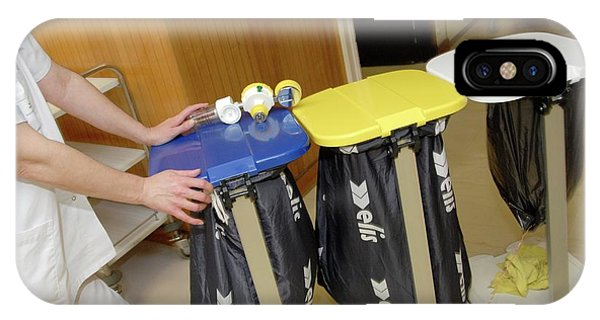 Rubbish Bin iPhone Case - Hospital Waste Disposal by Aj Photo/science Photo Library