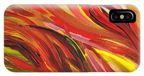 Hot Abstract Flames IPhone Case
