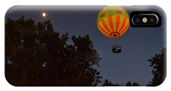 Hot Air Balloon At Night  IPhone Case