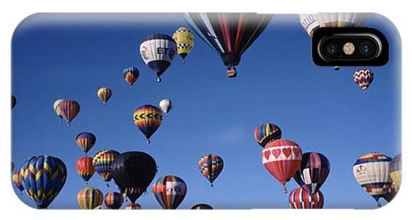 Space Ships iPhone Case - Hot Air Balloons Floating In Sky by Panoramic Images