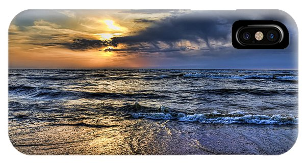 Hot April Sunset Saugatuck Michigan IPhone Case